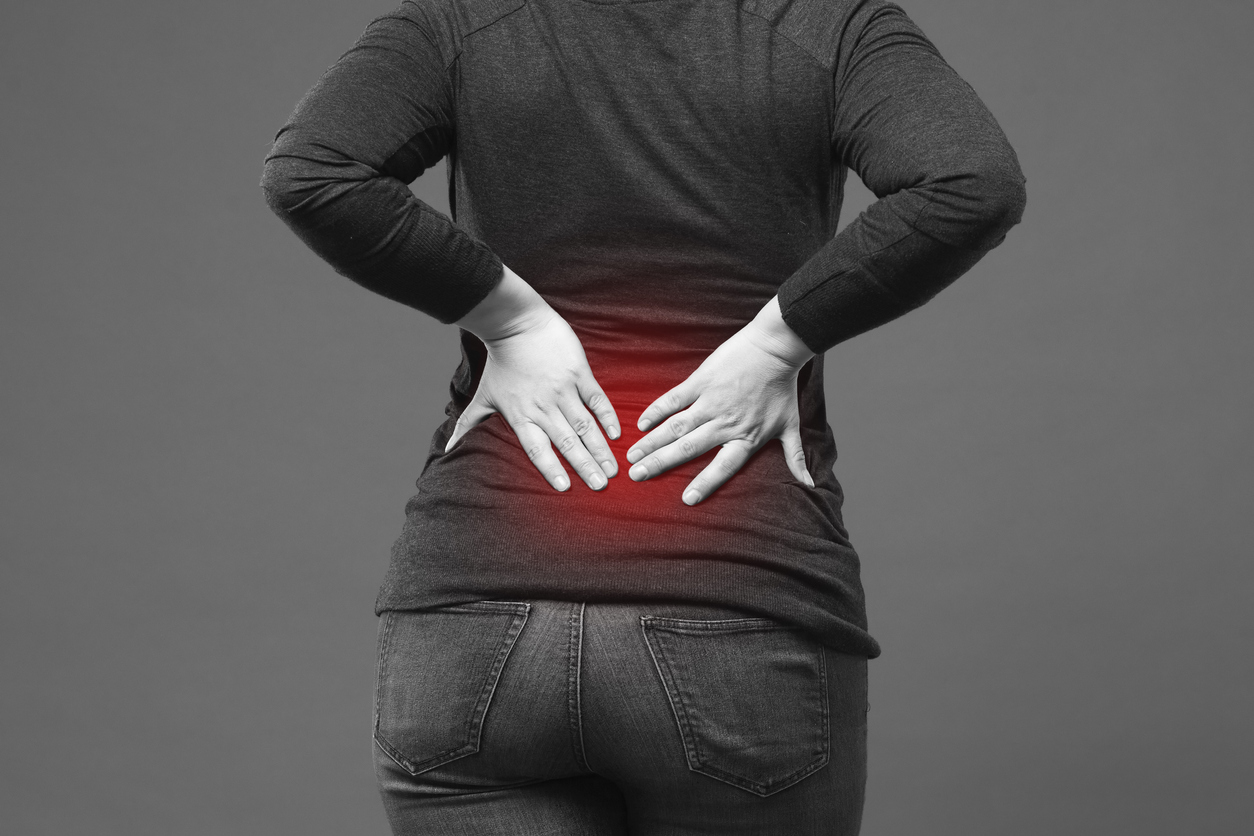person with chronic back pain